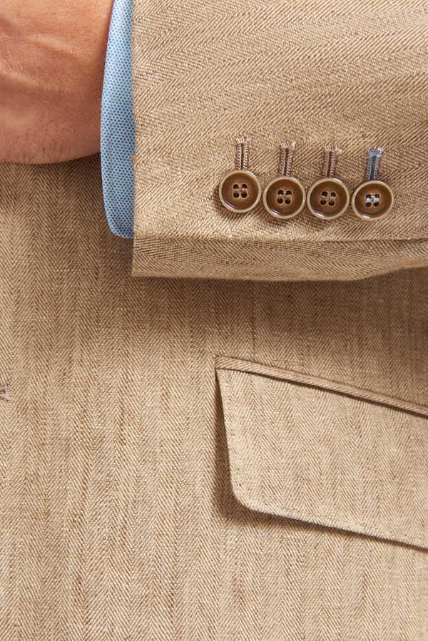 Abrahams-Taupe-silk-linen-detail