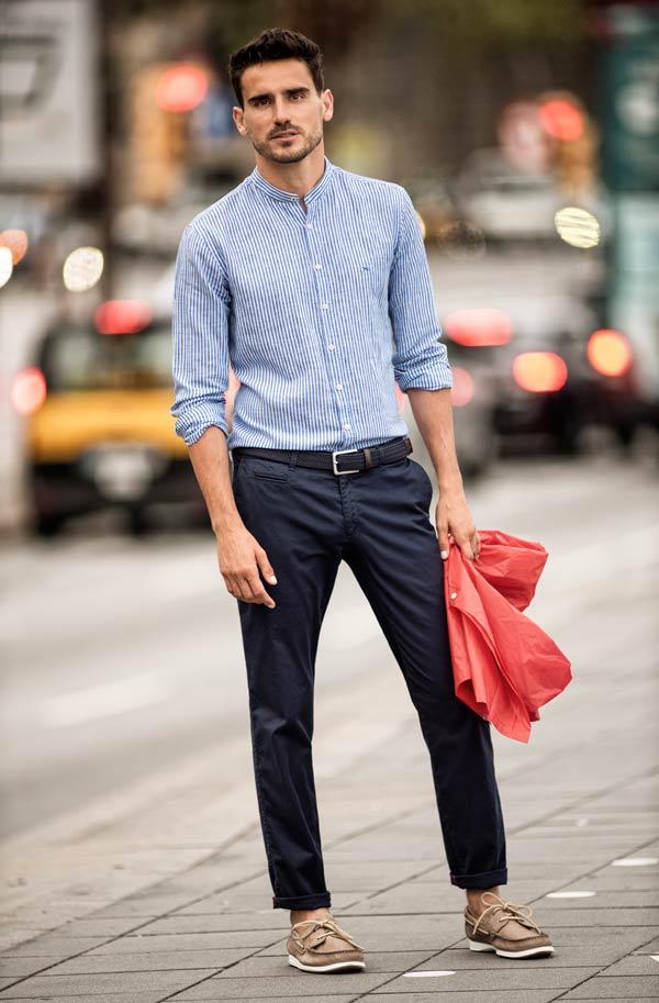 Brax-Lars-collarless-linen-shirt