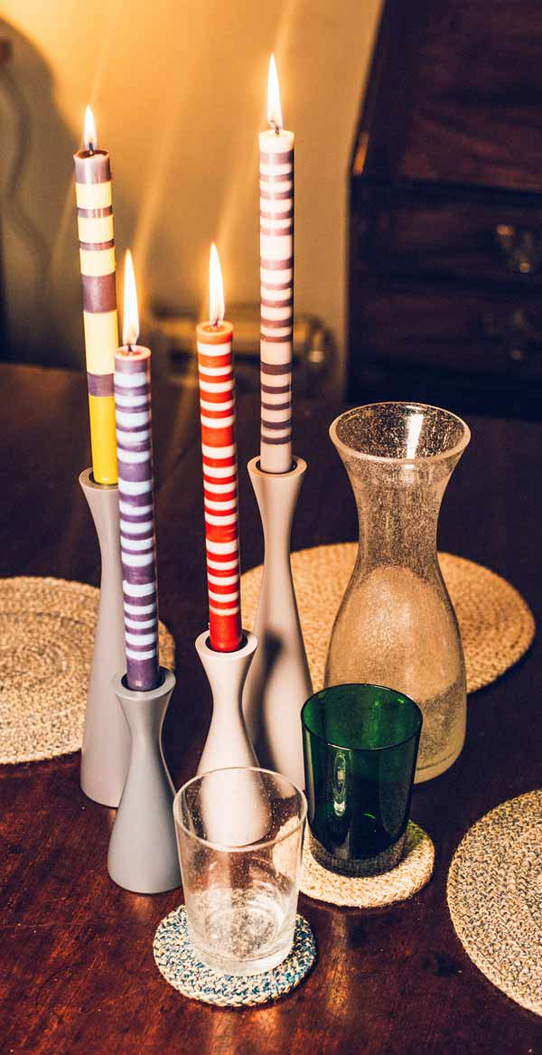 Designed-in-Colour-striped-candles-candleholder
