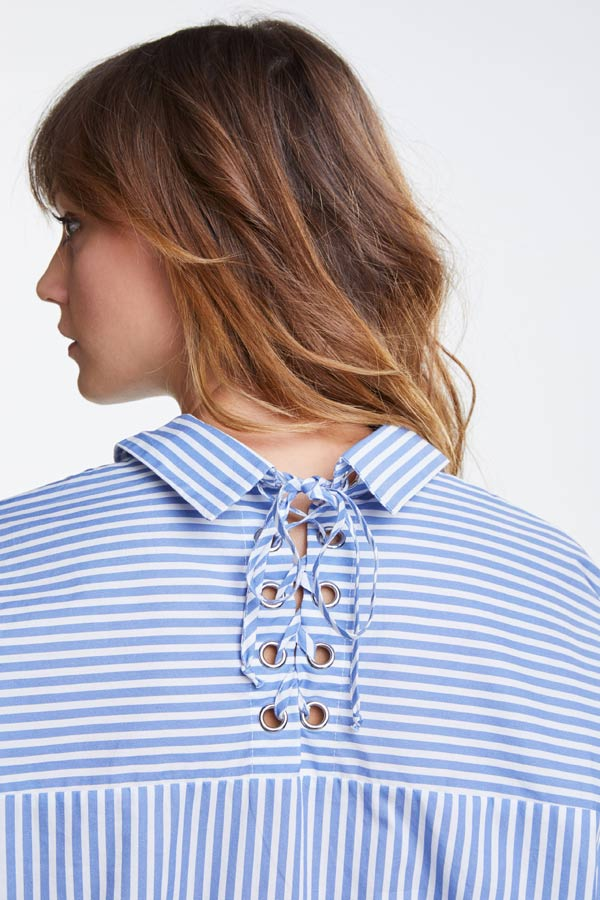 OUI-blue-striped-blouse-109