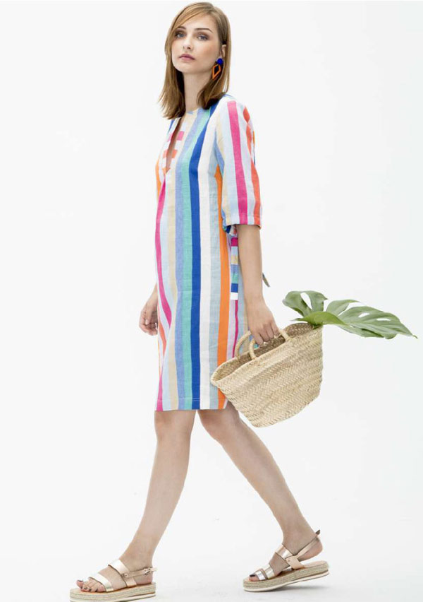 Vilagallo-Linen-stripe-dress-129